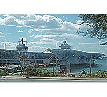 Two Aircraft Carriers Are Better Than One.... NS Newport, RI Photographic Print