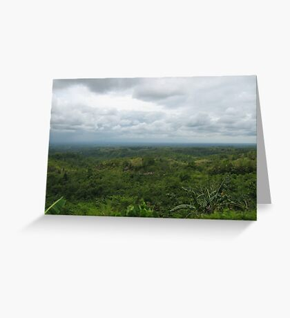 Philippines Mountains Greeting Card