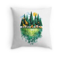 Geo Forest Throw Pillow