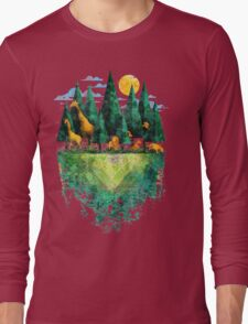 Geo Forest Long Sleeve T-Shirt