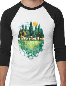 Geo Forest Men's Baseball ¾ T-Shirt