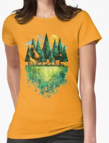 Geo Forest Womens Fitted T-Shirt