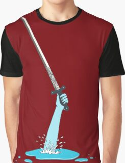 Excalibur and the Lady of the Puddle Graphic T-Shirt