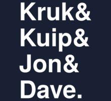 Kruk& Kuip& Jon& Dave. Kids Tee