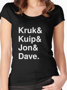 Kruk& Kuip& Jon& Dave. Women's Fitted Scoop T-Shirt