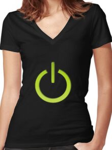 Turned On Women's Fitted V-Neck T-Shirt