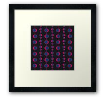 Abstract retro pattern Framed Print