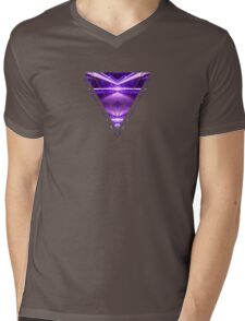 Geometric Street Night Light (HDR Photo Art) Purple Mens V-Neck T-Shirt