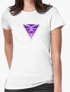 Geometric Street Night Light (HDR Photo Art) Purple Womens Fitted T-Shirt