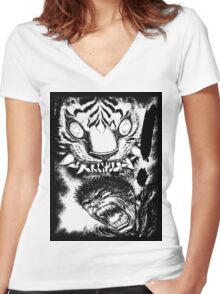BERSERK Mode! Women's Fitted V-Neck T-Shirt