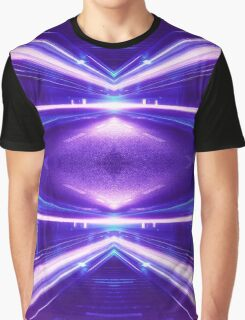 Geometric Street Night Light (HDR Photo Art) Purple Graphic T-Shirt