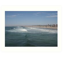 The vibrant coast of Newport Beach, California Art Print