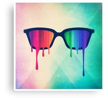 Love Wins! Rainbow - Spectrum (Pride) / Hipster Nerd Glasses Canvas Print