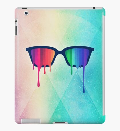 Love Wins! Rainbow - Spectrum (Pride) / Hipster Nerd Glasses iPad Case/Skin