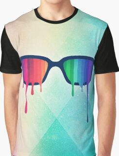 Love Wins! Rainbow - Spectrum (Pride) / Hipster Nerd Glasses Graphic T-Shirt