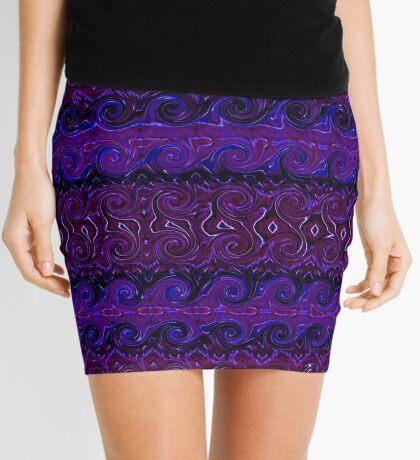 Violet Tapestry Mini Skirt