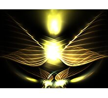 Candle Wings Photographic Print