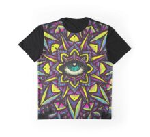 Dharma Wheel Neon Mandala Graphic T-Shirt