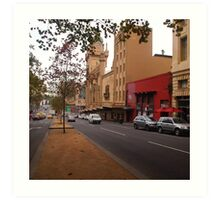 A funny thing happened on the way to the Forum!! Melb. VIC Australia Art Print