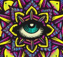 Dharma Wheel Neon Mandala Sticker