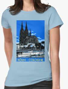 Koeln Cologne retro vintage style travel ad  Womens Fitted T-Shirt