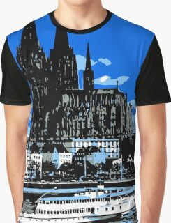 Koeln Cologne retro vintage style travel ad  Graphic T-Shirt