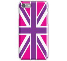 Pink and Purple Union Jack British Flag iPhone Case/Skin