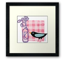 Breakfast with the Bird Framed Print