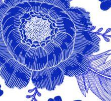 Blue Peony Sticker