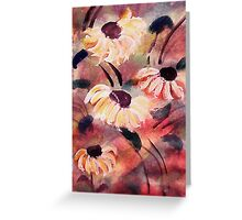 Wild flowers #2, almost tamed, watercolor Greeting Card