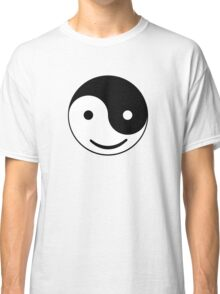 Funny Smiley Yin and Yang Classic T-Shirt