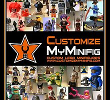 Customize My Minifig Poster, Montage of LEGO® Custom Minifigs by Chillee