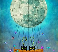 Cat & Moon by Ana CB Studio