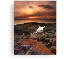 """A Lichen Dusk"" ∞ Coles Bay, Tasmania - Australia Canvas Print"