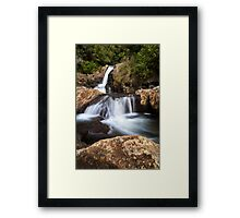Kaiate middle falls Framed Print