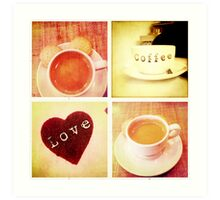 Cambridge Collection: Love Coffee Art Print