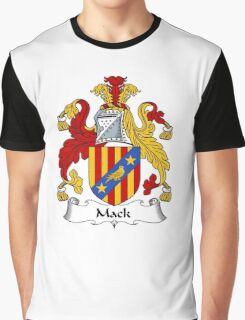 Mack Coat of Arms / Mack Family Crest Graphic T-Shirt