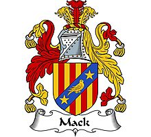 Mack Coat of Arms / Mack Family Crest Photographic Print