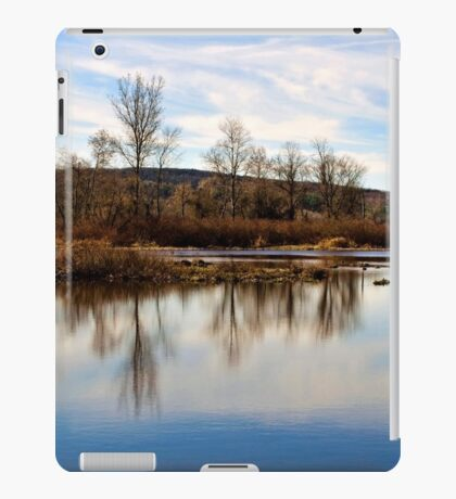 Trees on Tranquil Lake iPad Case/Skin