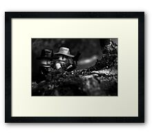 Gun Fight Framed Print