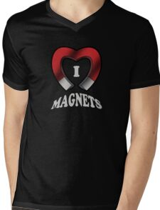 I Love Magnets Mens V-Neck T-Shirt