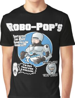 RoboPops Cereal Box Mashup Graphic T-Shirt