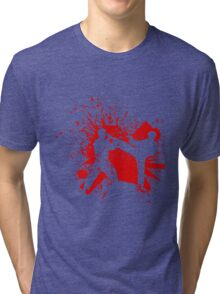The Bloody Duel of Taekwondo fighters Tri-blend T-Shirt