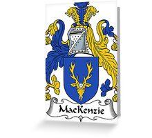 MacKenzie Coat of Arms / MacKenzie Family Crest Greeting Card