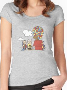 some Peanuts UP there V.2 Women's Fitted Scoop T-Shirt