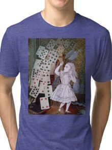 Alice In Wonderland/The Pack of Cards Tri-blend T-Shirt
