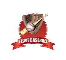 I Love Baseball Photographic Print