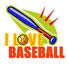 I Love Baseball by noeljerke
