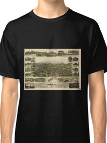 Panoramic Maps Auburn California Classic T-Shirt