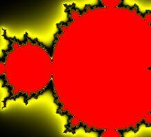 Earth People & Space Mandelbrot Sticker